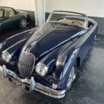 Voiture Ancienne Vendre Jaguar Xk150 Roadster Blue 1
