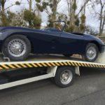 Voiture Ancienne Vendre Jaguar Xk150 Roadster Blue 62
